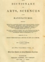 Cover of The dictionary of arts, sciences and manufactures