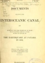 """Cover of """"Documents relating to the Interoceanic Canal and a letter from the secretary of state transmitting certain information in regard to the earthquake at """""""