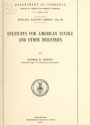 """Cover of """"Dyestuffs for American textile and other industries"""""""