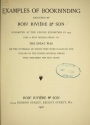"""Cover of """"Examples of bookbinding executed by Robt. Rivière & Son"""""""