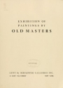 "Cover of ""Exhibition of paintings by old masters, [Los Angeles Museum] /"""