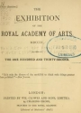 "Cover of ""The Exhibition of the Royal Academy of Arts MDCCCC"""