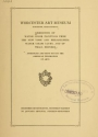 "Cover of ""Exhibition of water color paintings from the New York and Philadelphia water color clubs, and of small bronzes /"""