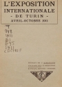Cover of L'Exposition internationale de Turin, avril-octobre 1911