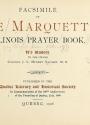Cover of Facsimile of Père Marquette's Illinois prayer book