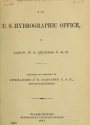"""Cover of """"Founding and development of the U.S. Hydrographic Office /"""""""