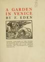 """Cover of """"A garden in Venice"""""""