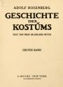 Cover of Geschichte des Kostüms