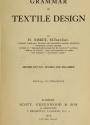 """Cover of """"Grammar of textile design"""""""