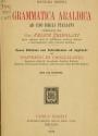 Cover of Grammatica araldica ad uso degli italiani