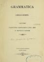 """Cover of """"Grammatica linguæ Numipu"""""""