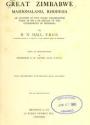 "Cover of ""Great Zimbabwe, Mashonaland, Rhodesia"""