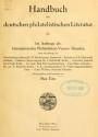 Cover of Handbuch der deutschen philatelistischen Literatur