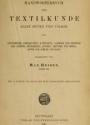"""Cover of """"Handwörterbuch der textilkunde aller zeiten und völker"""""""
