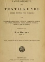 Cover of Handwörterbuch der textilkunde aller zeiten und völker