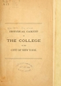 """Cover of """"Historical cabinet of the College of the City of New York"""""""
