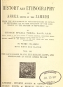 """Cover of """"History of Africa south of the Zambesi"""""""