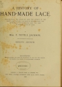 "Cover of ""A history of hand-made lace"""