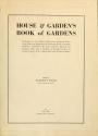 """Cover of """"House & garden's book of gardens"""""""