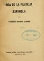 Cover of Idea de la filatelia española