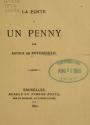 Cover of La poste à un penny