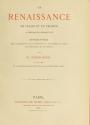 """Cover of """"La renaissance en Italie et en France à l'époque de Charles VIII"""""""