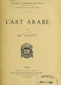 "Cover of ""L'art arabe"""