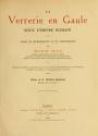Cover of La verrerie en Gaule sous l'Empire romain