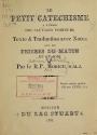Cover of Le petit catéchisme à l'usage des sauvages Proteurs
