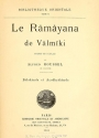 Cover of Le Râmâyana de Vâlmîki