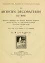 """Cover of """"Les artistes décorateurs du bois"""""""