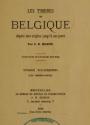 """Cover of """"Les timbres de Belgique depuis leur origine jusqu'á nos jours /"""""""