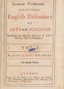 Cover of Lexicon technicum, or, An universal English dictionary of arts and sciences v. 1