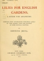 """Cover of """"Lilies for English gardens"""""""
