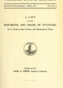 "Cover of ""A list of the portraits and pieces of statuary in the Virginia State Library"""