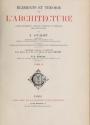 Cover of Éléments et théorie de l'architecture