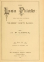 "Cover of ""The London philatelist"""