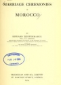 """Cover of """"Marriage ceremonies in Morocco /"""""""