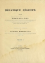 Cover of Mécanique céleste v.1 (1829)