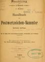 Cover of Nachtrag zum I. Bande von Dr. Moschkau's Handbuch für Postmarken-Sammler