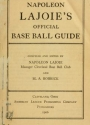 """Cover of """"Napoleon Lajoie's official base ball guide"""""""