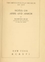 "Cover of ""Notes on arms and armor /"""