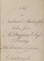 """Cover of """"Notes on Natural Philosophy"""""""