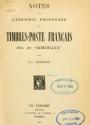 Cover of Notes sur l'émission provisoire des timbres-poste français dits de 'Bordeaux'