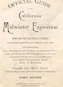Cover of Official guide to the California Midwinter Exposition in Golden Gate park, San Francisco, California
