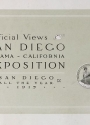 Cover of Official views, San Diego Panama-California Exposition