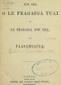 Cover of O le tusi paia o le Feagaiga Tuai ma le Feagaiga Fou lea, ua faasamoaina