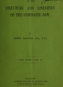 """Cover of """"On the structure and affinities of the composite bow /"""""""