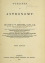 Cover of Outlines of astronomy