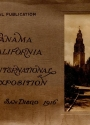 Cover of Panama California International Exposition, San Diego, 1916